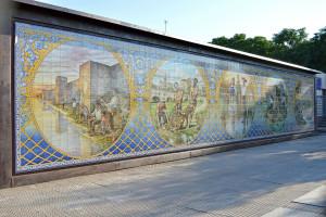 Mural Cerámica Pescadores